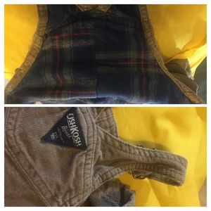 Thick Flannel Lined Corduroy Overalls
